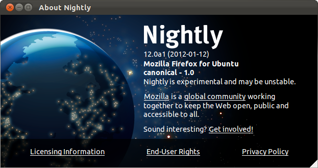 Firefox Nightly Build